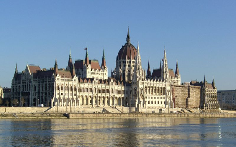 The Hungarian Parliament Building in Budapes