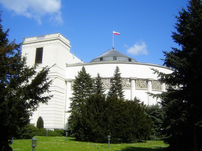 The Sejm building in Warsaw